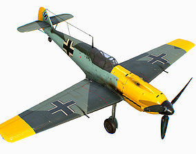 3D asset German fighter aircraft Messerschmitt Bf 109