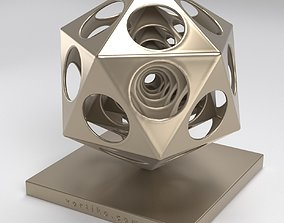 Icosahedra Echo 3D print model