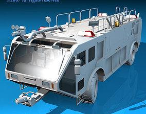 3D model Airport firetruck