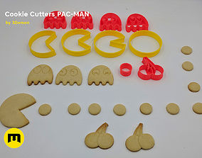 Pac-Man Cookie Cutters Set 3D printable model