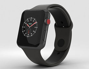 Apple Watch Edition 3 42mm GPS Ceramic Gray 3D model 2