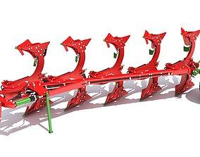 Semi Mounted Plough 3D