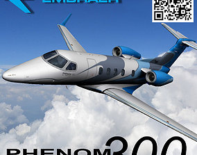 Embraer Phenom 300 Private Jet 3D asset