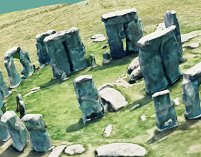 3D model Ultra Low Poly Stonehenge Realistic Looking Game