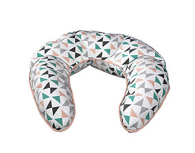 3D model Neck Pillow - Triangles pattern