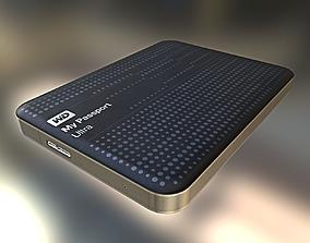 3D model External Hard Drive Low Poly WD Version - 3