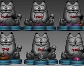 3D print model Stylized cats