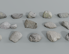Realistic Forest Rock Pack - Large 3D asset