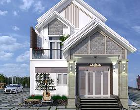 Exterior House design 3d model exterior animated