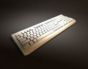 computer keyboard with customized light 3D model