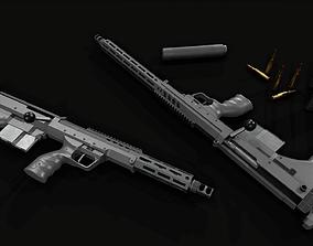Desert Tech SRS-A2 Bullpup Sniper 3D model