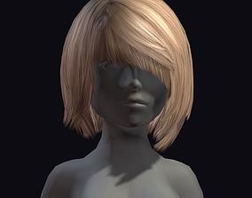 3D asset game-ready beauty hair