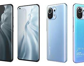 Xiaomi Mi 11 5G All Colors 3D