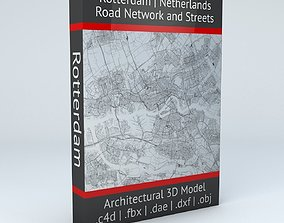 Rotterdam Road Network and Streets 3D