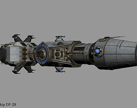 3D Correlian Gunship DP-20 from Star Wars