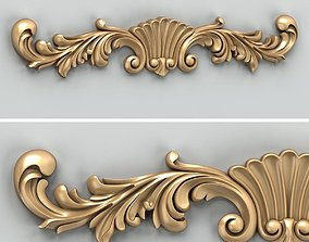 3D model Carved decor horizontal 023