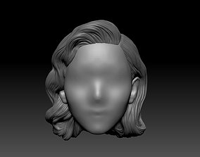 12inch size Hottoys figure style hair for 3d print 001