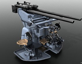 German 37mm SK C30 anti-aircraft gun 3D model