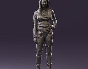Woman weird blouse hand hip 0803 3D Print Ready