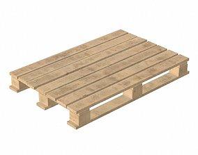 3D model PBR wooden pallet