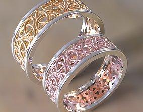 Celtic pattern wedding rings 3D printable model