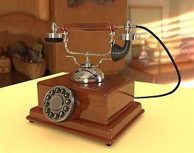 classic 3D vintage phone