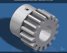 16-Tooth Spur Gear 3D print model