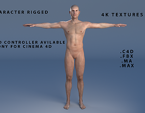 Male Character Rigged 3D