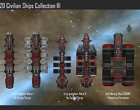 3D 2D Civilian Ships Collection III