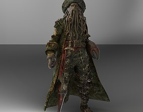 Davy Jones 3D model rigged