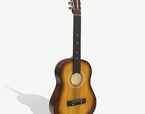 3D asset game-ready PBR Acoustic Guitar