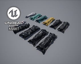 3D asset Body Corpses Bags
