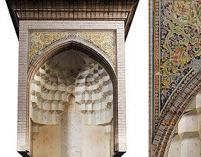 3D model old islamic turkish arch muqarnas set 135
