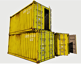 3D model Enterable Shipping Container 04 - PBR