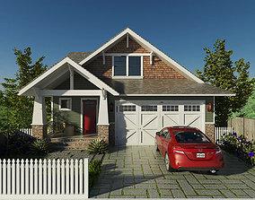 3D model New Hillside Craftsman style Home