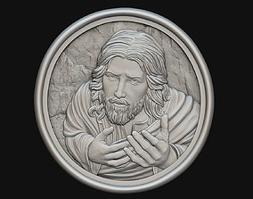 Jesus Praying Medallion PROMO PRICE 3D print model