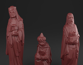 3D asset Three holy kings - Christmas Crib figurines