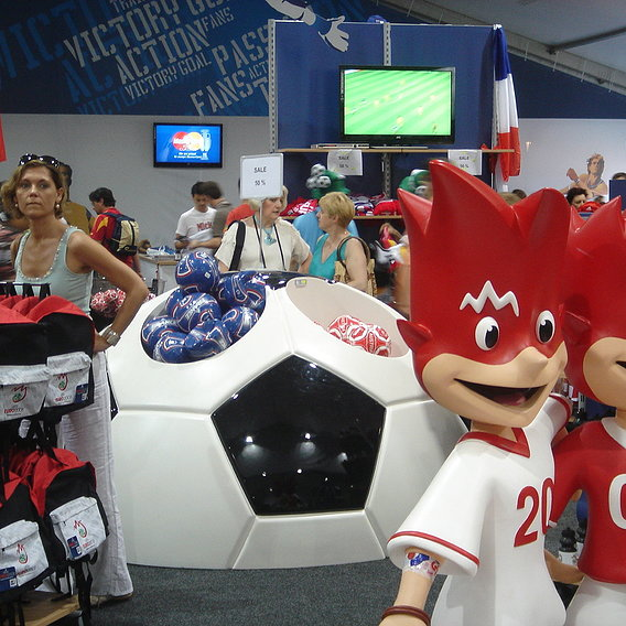 Giant 3D Soccer ball as shop selling object
