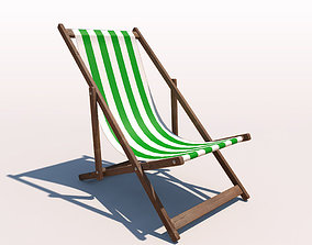 3D Deck Chair - Green