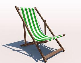 3D Deck Chair - Green