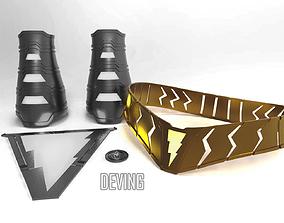 SHAZAM BELT 3D print model