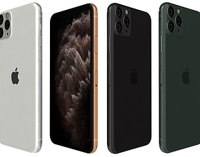 Apple iPhone 11 Pro All Colors 3D model
