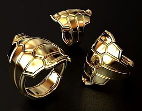 3D printable model silverjewelry Turtle shell Ring