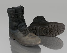 game-ready Boot low poly 3D model