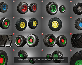 Tractor Tires T01 T02 T03 T04 T05 and T06 3D