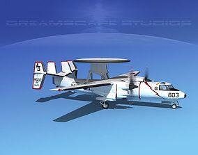 3D model Grumman E-2C Hawkeye V03