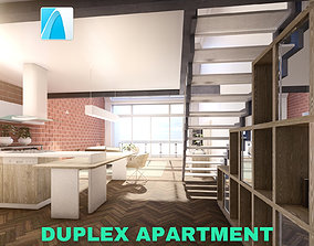 Modern Duplex Apartment Scene - Archicad 3D model