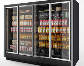 3D Vertical Glass Door Fridge by Arneg