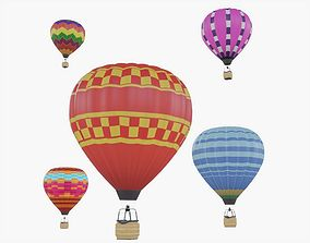 Hot Air Balloon Collection 3D asset