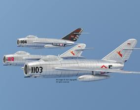 MiG 17 Fresco AURI Indonesian Air Force 3D asset